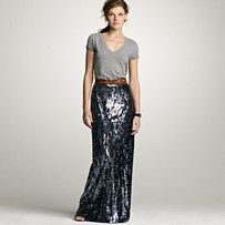 Still loving this sequin skirt, absolutely with a dressed down T.  J.Crew.