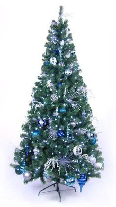 Blue & Silver Christmas Tree - What our tree will look like next year :)