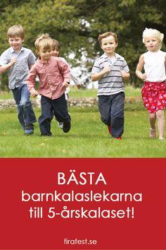 Tips, idéer och färdiga lekar att ladda hem som passar till 5-årskalaset.  #barnkalaslekar #barnkalas #barnlekar #kalas #kalaslekar
