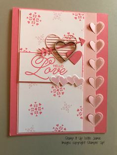 Love Notes Framelits Clear Stamp OR Dies for Scrapbooking Card Album Craft Love Stamps, Clear Stamps, Valentine Love Cards, Heart Cards, Love Notes, Creative Cards, Anniversary Cards, Homemade Cards, Making Ideas
