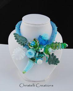 blauw/groen/zilverglas Necklaces, Silk, Beads, Jewelry, Fashion, Beading, Moda, Jewlery, Bijoux