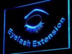 Eyelash Extension Beauty Salon Neon Light Sign for sale online Led Neon Signs, Neon Light Signs, Big Eyelashes, Best Scale, Open Signs, 8th Sign, Neon Lighting, Eyelash Extensions, Light Colors