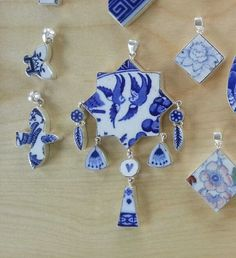 Willow Pattern and Mixed China Unique Sterling by AaronKiddDesign