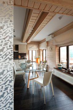 Как обустроить типовой коттедж из бруса: деревянный дом в Духанино - InMyRoom.ru