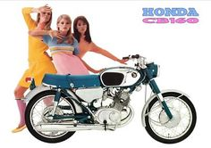 HONDA Poster Classic CB160 - I'm part of a legacy of babes now.