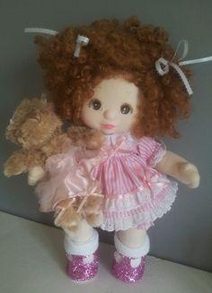 My child doll .Poupée Mon enfant.Mattel Sewing Clothes, Doll Clothes, My Child Doll, Soft Dolls, My Children, Doll Toys, Style, Fabric Dolls, Craft