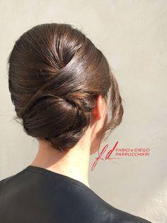 #Acconciatura #Cerimonia #raccolto Wedding Hairstyles, Hair Styles, Beauty, Fashion, Curly, Hair Plait Styles, Moda, Fashion Styles, Hair Makeup