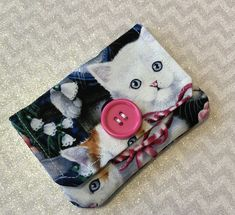 Excited to share the latest addition to my #etsy shop: Credit Card Holder, Kitten Fabric, Gift Card Holder, Business Card Holder, Minimalist Wallet, Kitten Lover Gift, Handmade,Fabric Card Holder #accessories #wallet #fabriccardholder #handmadecardholder #kittenfabric #handmadebyontheroadmama #businesscardholder #giftcardholdder #creditcardholder #minimalistwallet
