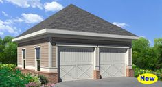 One of our most popular traditional garage plans. A simple detached garage that features 2 car bays.