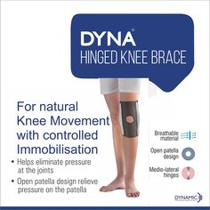 04aa0742fa Dyna Hinged Knee Brace, the Functional Knee Brace from the maker's of Dyna.  Click