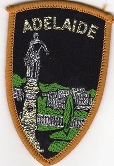 SOUVENIR SEW ON CLOTH PATCH/BADGE. ADELAIDE.