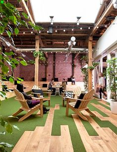 GitHub's goal is to make it easier to collaborate on software development, and its South of Market headquarters brings this idea to life. Studio Hatch and Fennie + Mehl worked with the company to plan a space with flexible work environments that could evolve over time as the team grew. The three-story, 60,000-square-foot office, located in a former dried-fruit warehouse, includes a café on each floor, conference rooms with themes (such as Rat Pack, saloon, and safari), a dojo, a speakeasy…