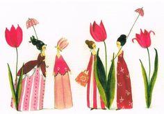 Postkarte v.Silke Leffler: Tulpenfrauen | eBay