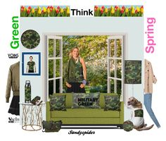 """""""Go Military Green Go Spring"""" by sandyspider ❤ liked on Polyvore featuring SIGG"""