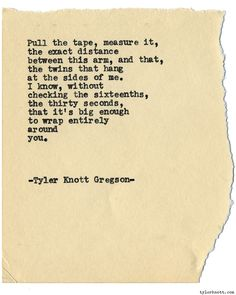 Typewriter Series #1492 by Tyler Knott Gregson Chasers of the Light & All…