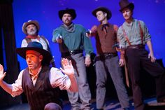 Ryan Smith and Ensemble in Impro Theatre's THE WESTERN UNSCRIPTED at the Falcon Theatre. Photo by Rebecca Asher.