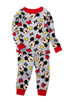 AME Mickey Mouse Cotton PJ Set (Baby Boys) by AME on @HauteLook
