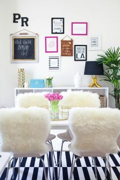 BLND PR's Unique and Chic Office Space {Office Tour} - More Issues Than Vogue sign is awesome, haha!