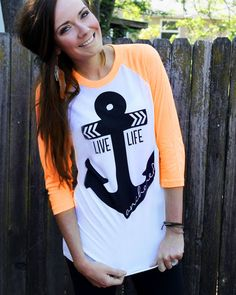 Get the look with our Live Life Anchored Tee! www.psiloveyoumoreboutique.com