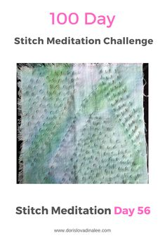 Day 56 of the 100 Day Stitch Meditation Project. Running stitches on this hand dyed lightweight cotton in turquoise. Love the pattern in cloth and stitch. Meditation, Challenge, Running Stitch, 100th Day, Hand Stitching, Stitches, Turquoise, Pattern, Cotton