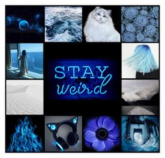 """""""Stay Weird"""" by lucy-wolf ❤ liked on Polyvore featuring art"""