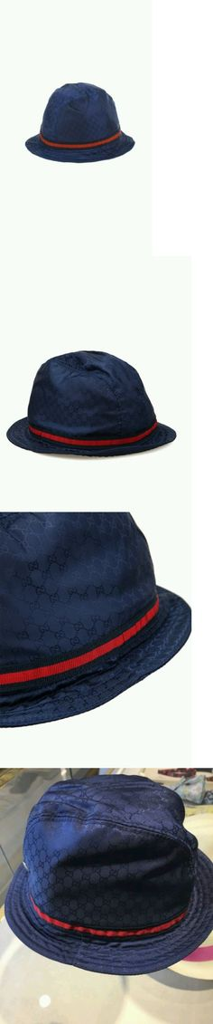 6a1419a2d13f7 Hats 57884  Nwt New Gucci Kids Boys Girls Navy Blue Gg Fedora Bucket Hat  Red Web Xs 258058 -  BUY IT NOW ONLY   99 on eBay!