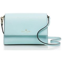 Kate Spade Cedar Street Magnolia ($198) ❤ liked on Polyvore featuring bags, handbags, shoulder bags, cross body, crossbody handbags, crossbody purse, kate spade crossbody, crossbody shoulder bags and blue crossbody
