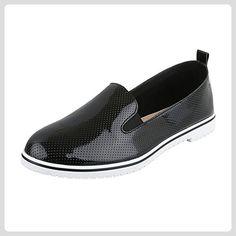 Slipper Damen-Schuhe Low-Top Blockabsatz Stretch Ital-Design Halbschuhe Schwarz, Gr 38, W-99- - Slipper und mokassins für frauen (*Partner-Link)