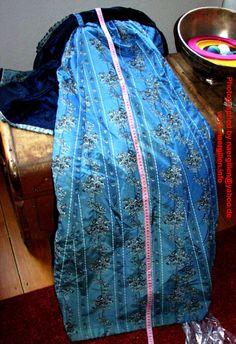 Side back panel of the skirt.