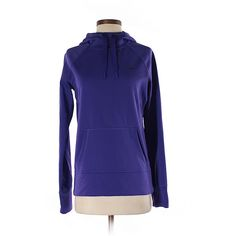 Pre-owned Nike Pullover Hoodie Size 4: Purple Women's Tops (27 NZD) ❤ liked on Polyvore featuring tops, hoodies, purple, blue hoodies, purple hoodie, sweatshirt hoodies, pullover hoodies and blue pullover hoodie