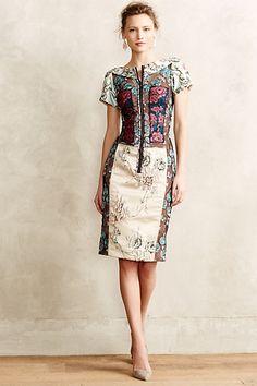 Pieced Brocade Dress - anthropologie.com #anthrofave