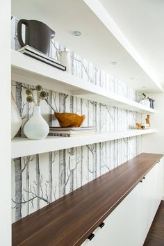 new Ideas for birch tree wallpaper kitchen wall papers Diy Tv Wall Mount, Wall Mounted Tv, Mount Tv, Interior Wallpaper, Kitchen Wallpaper, Wall Wallpaper, Tiny House, Birch Tree Wallpaper, Tree Wallpaper Living Room