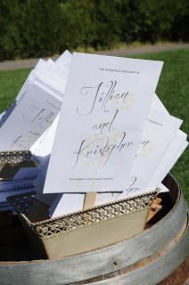 wedding program fans to keep guest cool as they await the ceremony