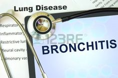 respiratory tract: Tablet with word bronchitis and stethoscope. lung disease concept.