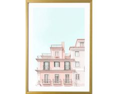 Lisbon Portugal art print Pastel Home Decor, Pastel House, Pastel Art, Canvas Art Prints, Wall Decor, Couch, Group, The Originals, Board