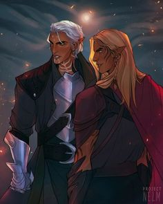 My favorite elven boyfriends in Dragon Age. Fenris & Zevran Arainai.