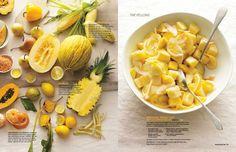 March Pineapple, Mango, and Meyer Lemon Salad Serves 4 - 1 pineapple ...