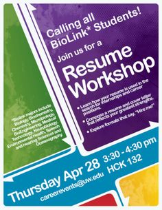 Charming Resume Workshop Poster Nice Look