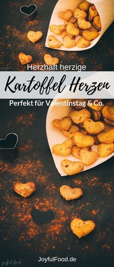 Kartoffelherzen – herrlich herzhaftes zum Valentinstag Super nice and delicious recipe for Valentine's Day, Mother's Day, engagement or wedding: Delightful hearty potato heart from the [. Vegetarian Lifestyle, Vegetarian Recipes, Snacking, Valentines Day Food, Yummy Food, Tasty, Food And Drink, Healthy Eating, Meals