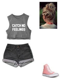 """Leaving! :)"" by alejandra-martinez-738 on Polyvore featuring PèPè, Converse, women's clothing, women, female, woman, misses and juniors"