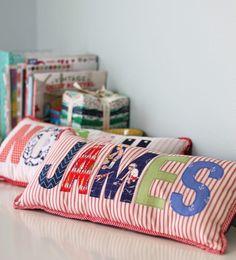 Applique Name Pillows