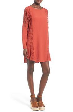 Crochet Inset Cotton Shift Dress