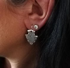 cowboy and Indian silver coin earrings Quarter Dollar, Drops Patterns, Cowboys And Indians, Indian Earrings, Handmade Items, Handmade Gifts, Damascus Steel, Silver Coins, Diamond Earrings