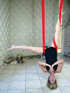Beautiful Aerial Yoga Pose in the Hammock by Ajna Life. Aerial tutorials and more at ajnalife.com Or on youtube at http://youtu.be/l0G8-bH2esA