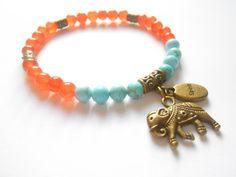 Elephant Jewelry Yoga Mala Bracelet Yoga jewelry Healing Beaded bracelet $24.95, via Etsy.