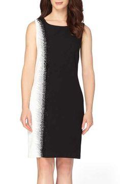 Tahari Embellished Sheath Dress (Regular & Petite)