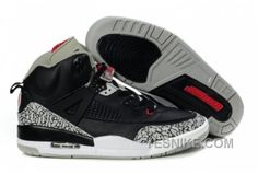 save off 6cd23 fd978 Buy Low Cost Air Jordan Spizike Retro Mens Shoes Black Cemenst Grey from  Reliable Low Cost Air Jordan Spizike Retro Mens Shoes Black Cemenst Grey  suppliers.
