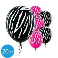 Zebra Balloons for Aryanna's 1st Birthday Party..
