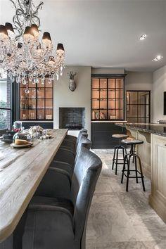 Totaalrenovatie Rijkevorsel landelijk keukenproject | Jones Living Home Decor Kitchen, Interior Design Kitchen, Living Room Inspiration, Interior Inspiration, Kitchen Inspiration, Style At Home, Decorating Your Home, Interior Decorating, Living Tv