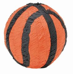 This Basketball Pinata is a slam-dunk for any birthday party. Each black and orange Pinata looks exactly like a real basketball! If you are throwing a basketball team party, or a birthday for a young